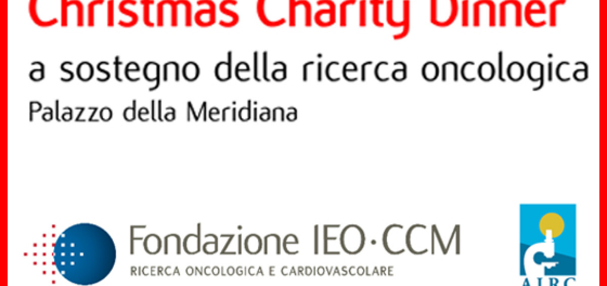 SAVE THE DATE 1 Dicembre 2016  CHRISTMAS CHARITY DINNER a sosteg