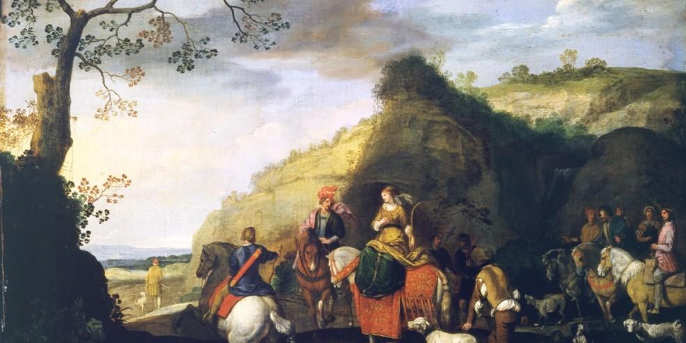 Sinibaldo Scorza: La caccia di Didone. Olio su tela, 46 x 71 cm. Collezione privata