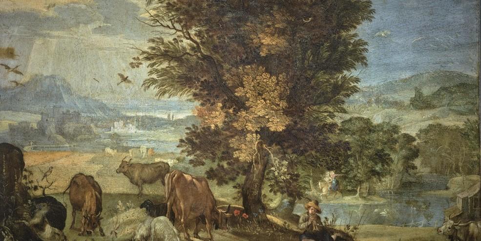 Sinibaldo Scorza: Pastorello. Olio su rame, 26 x 36 cm. Genova, Accademia Ligustica di Belle Arti