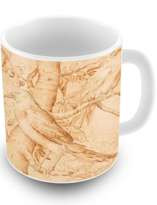 Mug mostra Sinibaldo Scorza_due immagini e scritta_535x696_uccellini