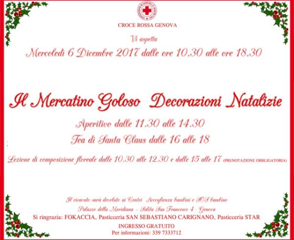 Mercantino di Natale a favore di Croce Rossa Genova