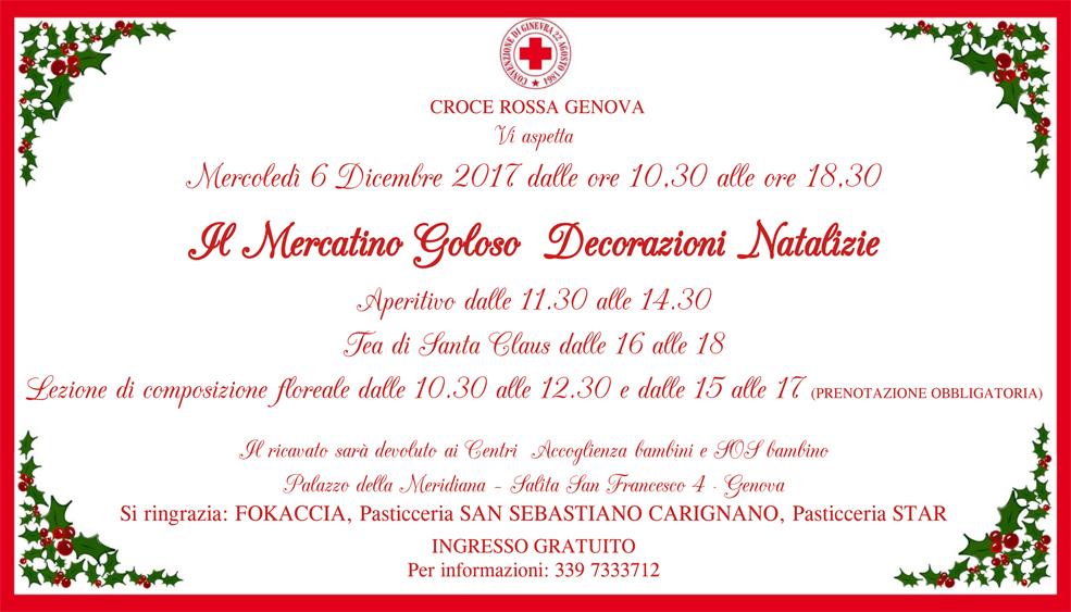 Mercatino di Natale a fovore di Croce Rossa Genova